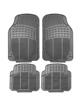 Fh Group F11305 Gray Gray All Weather Floor Mat, 4 Piece (Full Set Trimmable Heavy Duty) by Fh Group