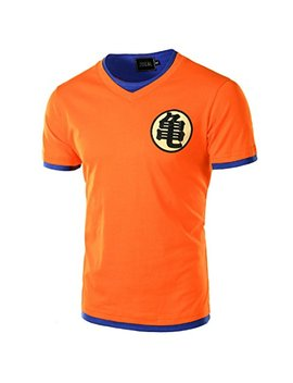 Chenma Men Dragon Ball Goku Pullover Slim Fit T Shirt by Chenma