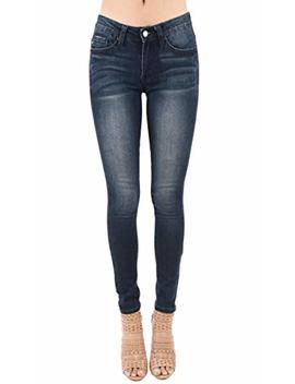 Kan Can Women's Mid Rise Skinny Jeans Kc7085 by Kan Can