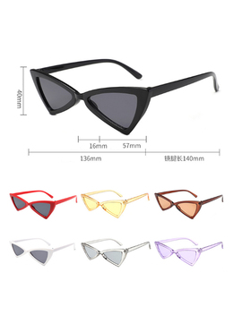 Sexy Cat Eye Sunglasses 2018 New Fashion Triangle Small Size Modern Retro Designer Women Sun Glasses Shades For Lady by Gootrades