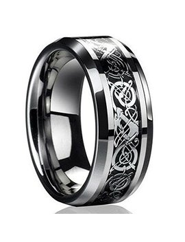 Erawan New Silver Celtic Dragon Titanium Stainless Steel Men's Wedding Band Rings Ew Sakcharn (Size 11) by Erawan