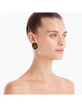 Clip On Tortoise Disc Earrings by J.Crew