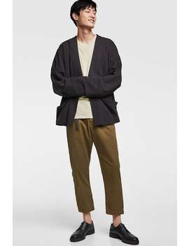 Chino Trousers With A Textured Weave  Lenoirshop By Collection Man by Zara