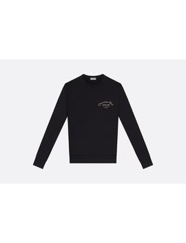 "Sweatshirt, Gold Tone ""Christian Dior Atelier"" Print, Black Cotton by Dior"