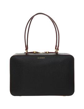 Black Leather Designer Shoulder Bag by Lulu Guinness
