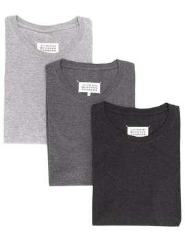 Set Mit Drei 'stereo' T Shirts by Maison Margiela