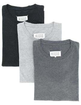 Set Mit Drei Grauen T Shirts by Maison Margiela