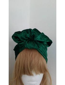 1940's Style Full Coverage Ready To Wear Velvet Turban   Pre Tied Turban Hat   Vintage Fashion by Etsy