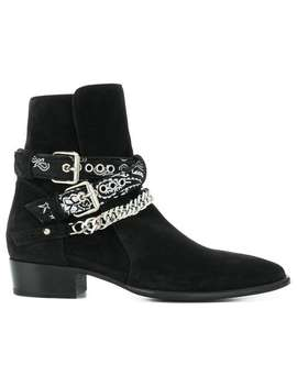 Bandana Buckle Boots by Amiri