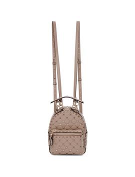 Pink Valentino Garavani Spike Backpack by Valentino
