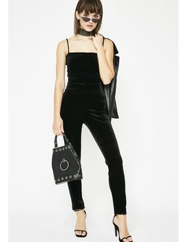 Catty Nights Velvet Jumpsuit by Day Night