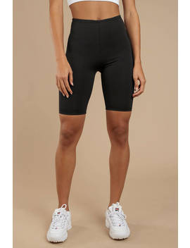 Fast Lane Black Biker Shorts by Tobi