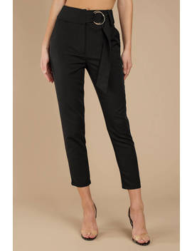 Neilene Black High Waisted Pants by Tobi