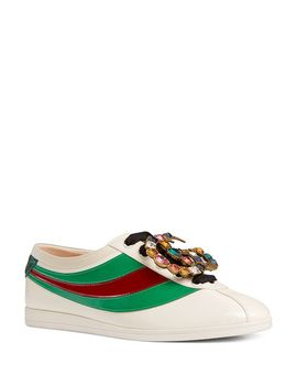 Women's Falacer Leather Low Top Lace Up Bowler Sneakers by Gucci