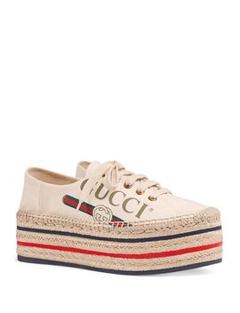Women's Canvas Platform Sneakers by Gucci