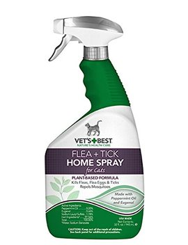 Vet's Best Flea And Tick Home Spray For Cats, 32 Oz, Usa Made by Vet's Best