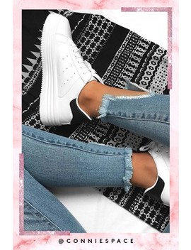Samia Black Chunky Trainers by Misspap