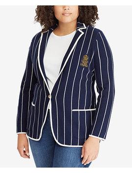 Plus Size Striped Stretch Blazer by Lauren Ralph Lauren