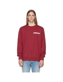 Ssense Exclusive Red Nobo Sweatshirt by Ambush