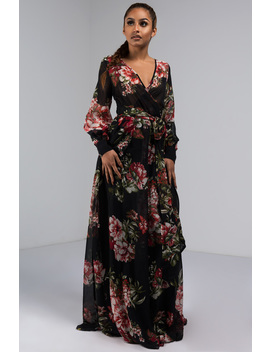 Ball For Me Floral Maxi Dress by Akira
