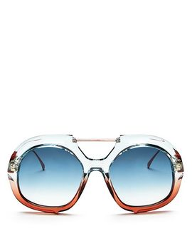 Women's Brow Bar Round Sunglasses, 55mm by Fendi