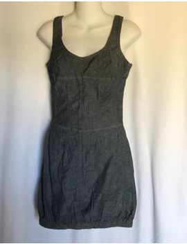 Paris Blues Denim Dress Medium Bubble Hem Body Con Mini Sleeveless by Paris Blues