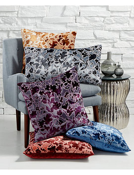 Misha Handcrafted Burnout Velvet Jacquard Decorative Pillow Collection, Created For Macy's by Lacourte