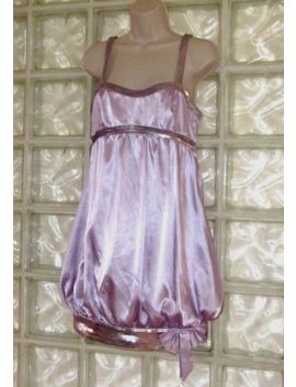 De Laru Collection Lavender Cocktail Dress Sequined & Bubble Hem Formal Size 7/8 by De Laru