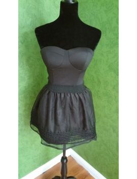 Xtaren Bubble Mini Strapless Black Dress Rn:Ga93928 Size:M by Xtaren