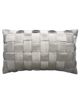 Grace Gray Basketweave Pillow 12x20 In. by At Home