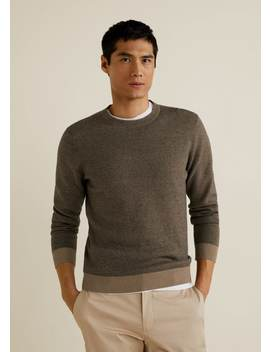 Cotton And Cashmere Blend Fabric Sweater by Mango