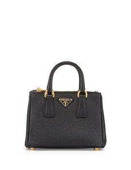 Saffiano Mini Galleria Crossbody Bag, Black (Nero) by Neiman Marcus