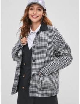 Gingham Oversized Jacket   Multi by Zaful