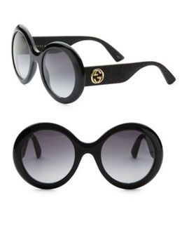 53 Mm Oversized Round Sunglasses by Gucci
