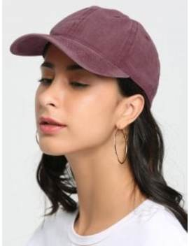 Outdoor Lines Embroidered Baseball Hat   Red by Zaful