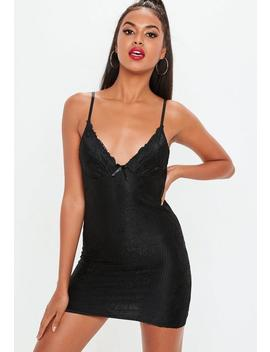 Black Lace Corset Mini Dress by Missguided