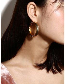 Metal Hoop Drop Earrings by Romwe