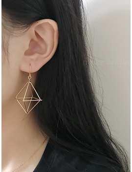 Hollow Geometric Design Drop Earrings by Romwe