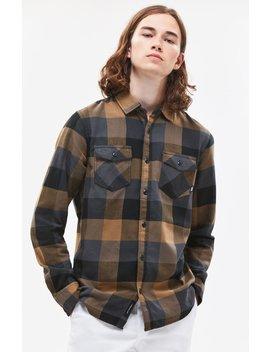 Vans Box Plaid Tan Flannel Shirt by Pacsun