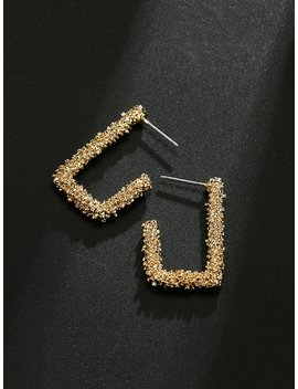 Cut Open Rectangle Drop Earrings by Romwe