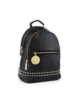 Faith   Black Studded Backpack by Faith