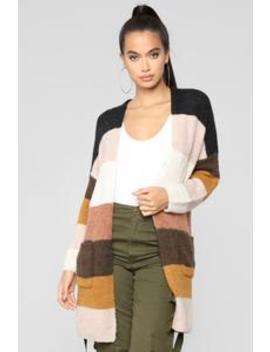 Fireplace Stripe Cardigan   Multicolor by Fashion Nova