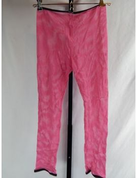 Nos 1990s Tripp Fishnet Mesh Pink Punk Psychobilly Fetish Tight Pant Leggings M by Tripp Nyc