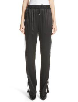 Tanley Silk Track Pants by Burberry