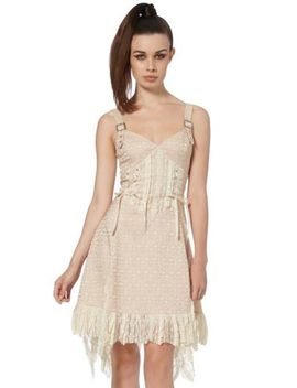 Jawbreaker Clothing   Women's Cream Victoriana Lace Dress by Jawbreaker