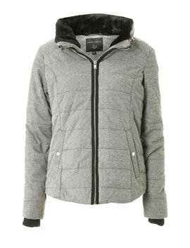 Grey Marl Faux Fur Collar Padded Jacket by Dorothy Perkins