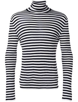 Striped Roll Neck Sweater by Saint Laurent