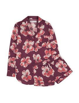 Pyjama Aus Baumwoll Voile Mit Blumenprint by Desmond & Dempsey