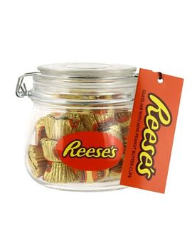 Reese's   Peanut Butter Mini Cups Filled Glass Jar Set by Reese's