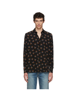 Black Mickey Mouse Shirt by Saint Laurent